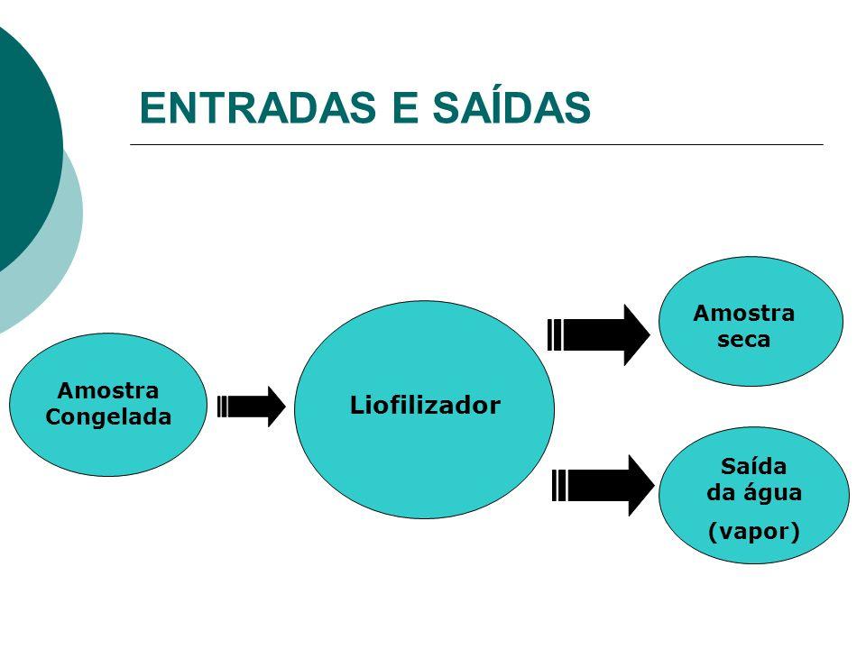 MATERIAIS Componentes essenciais do liofilizador: Câmara de vácuo:aço inox Condensador:aço inox Bomba de vácuo;