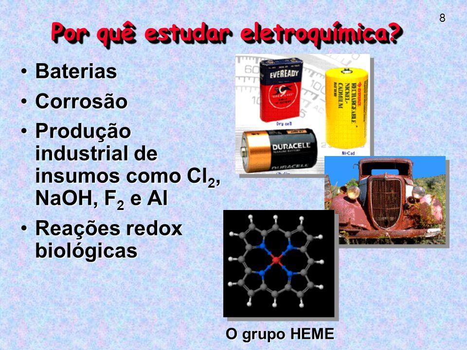 8 Por quê estudar eletroquímica.