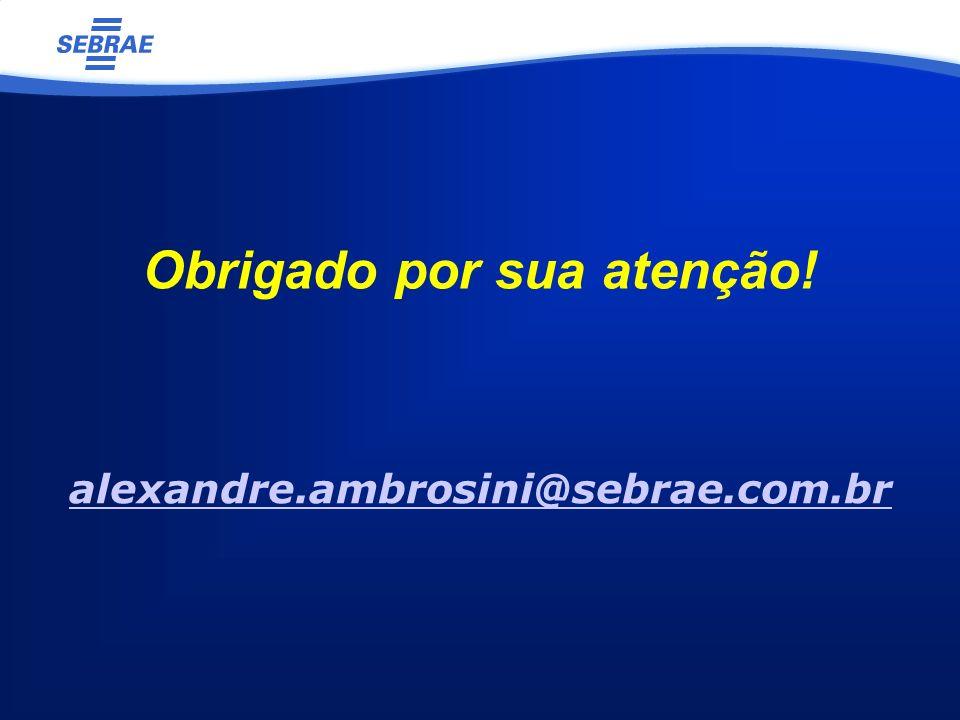 alexandre.ambrosini@sebrae.com.br Obrigado por sua atenção!