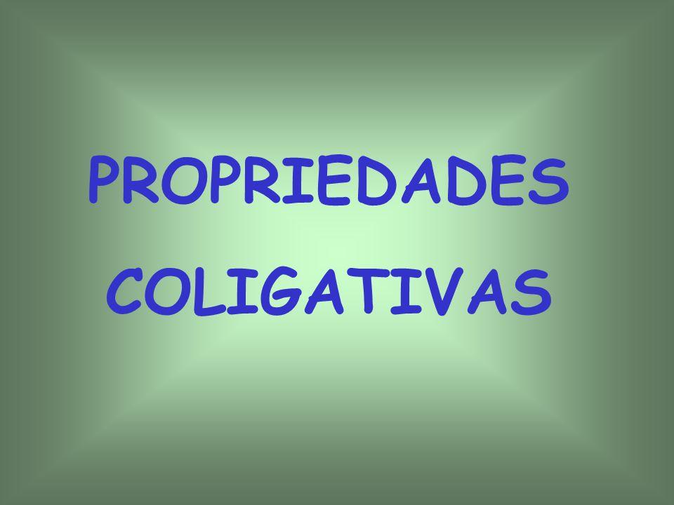 PROPRIEDADES COLIGATIVAS 1 – Pressão de vapor 2 – Pressão de vapor e mudança de estado 3- Tonoscopia 4- Crioscopia 5- Ebulioscopia 6 - Osmose e pressão osmótica