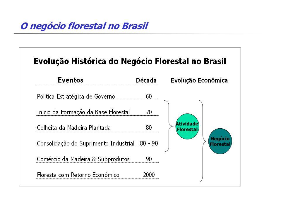 O negócio florestal no Brasil Atividade Florestal Negócio Florestal