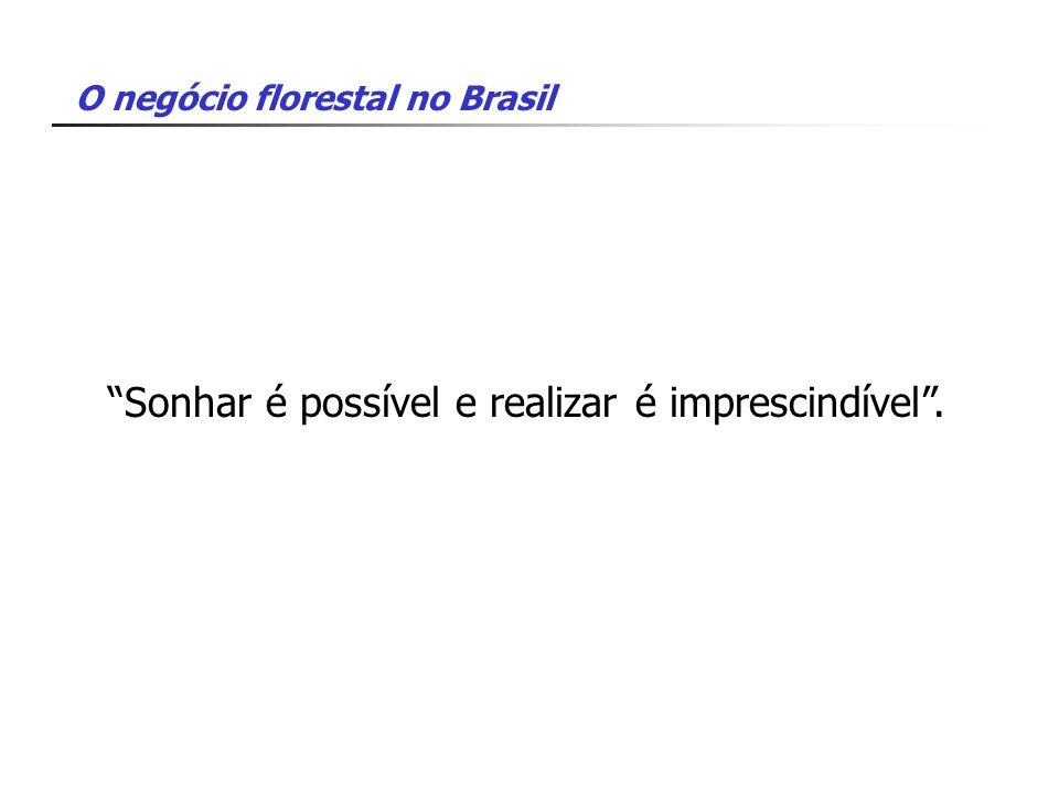 O negócio florestal no Brasil Sonhar é possível e realizar é imprescindível.