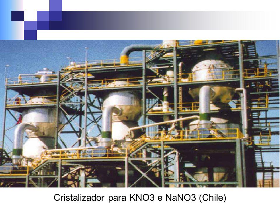 Cristalizador para KNO3 e NaNO3 (Chile)