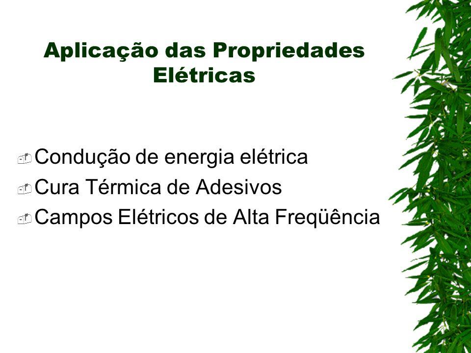 Aplicação das Propriedades Elétricas Condução de energia elétrica Cura Térmica de Adesivos Campos Elétricos de Alta Freqüência