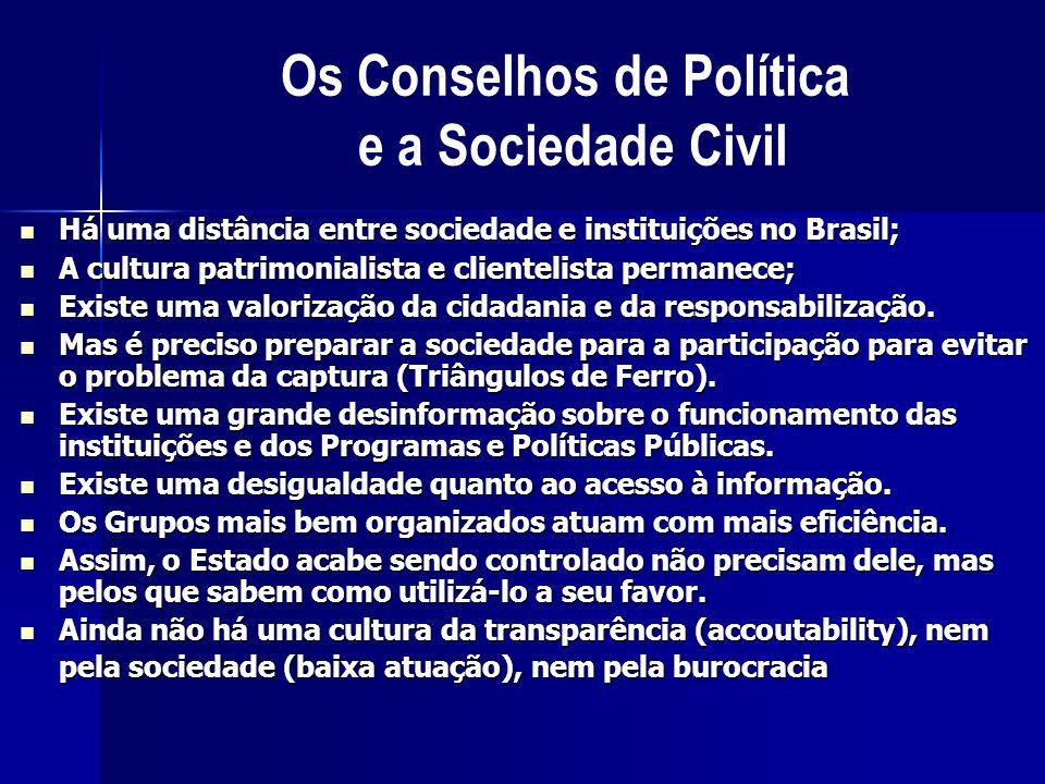 Há uma distância entre sociedade e instituições no Brasil; Há uma distância entre sociedade e instituições no Brasil; A cultura patrimonialista e clie
