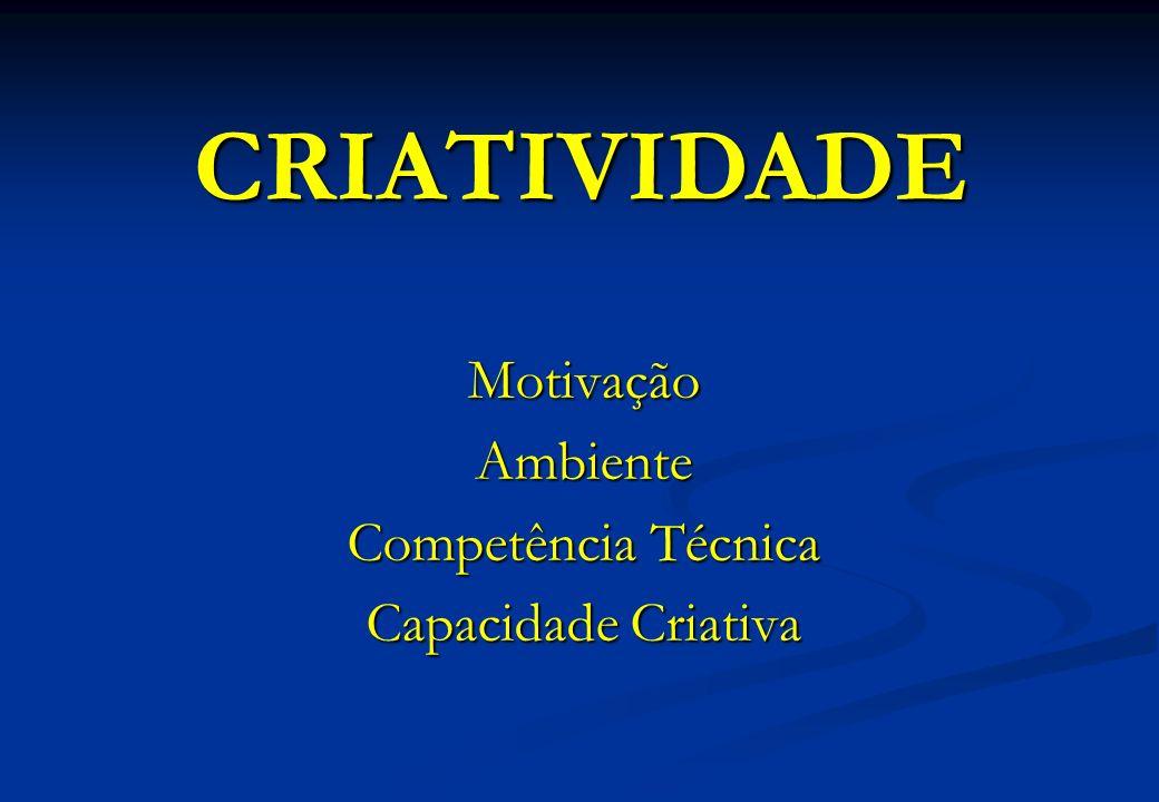 MotivaçãoAmbiente Competência Técnica Capacidade Criativa CRIATIVIDADE