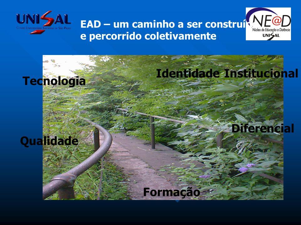 EAD – um caminho a ser construído e percorrido coletivamente Tecnologia Qualidade Formação Diferencial Identidade Institucional