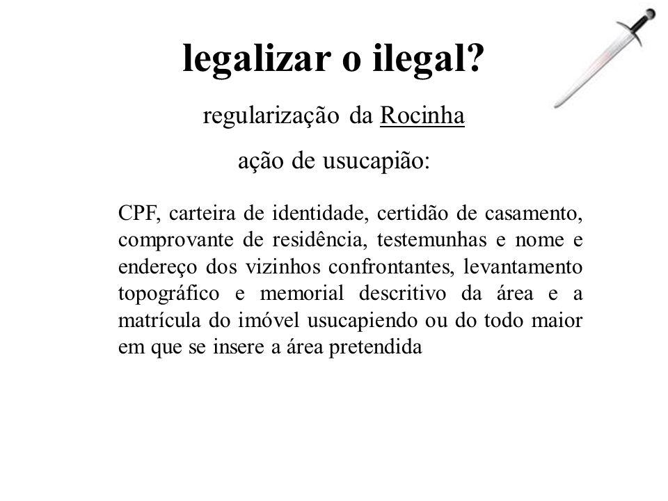 aumentar repressão legal? reintegração de posse = justiça por amostragem repressão policial coletiva = impossibilidade física