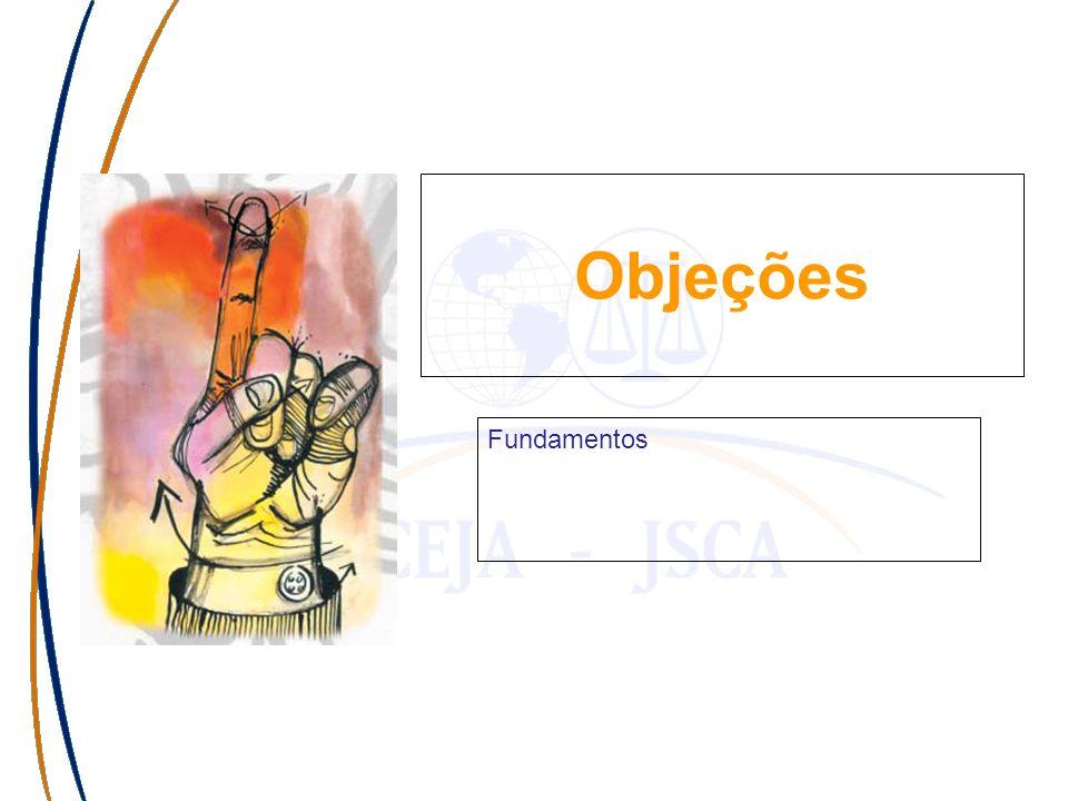 Haga clic para modificar el estilo de subtítulo del patrón Objeções Fundamentos