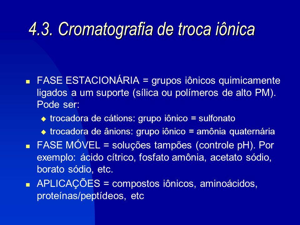 GERALMENTE: NPC Cromatografia Adsorção RPC Cromatografia Partição Portanto..........