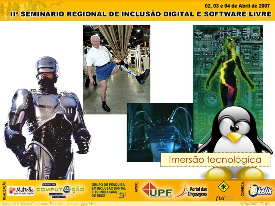 Copyleft Adriano Canabarro Teixeira – [teixeira@upf.br]02/04/2007 [7/10] Imersão tecnológica