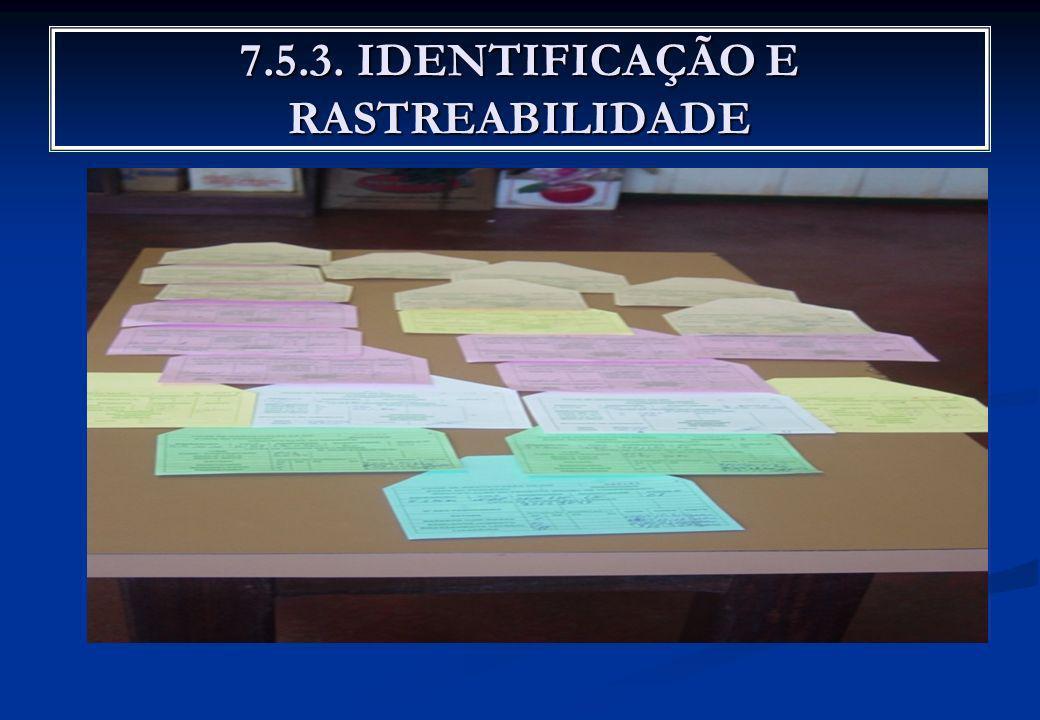 7.5.3. IDENTIFICAÇÃO E RASTREABILIDADE