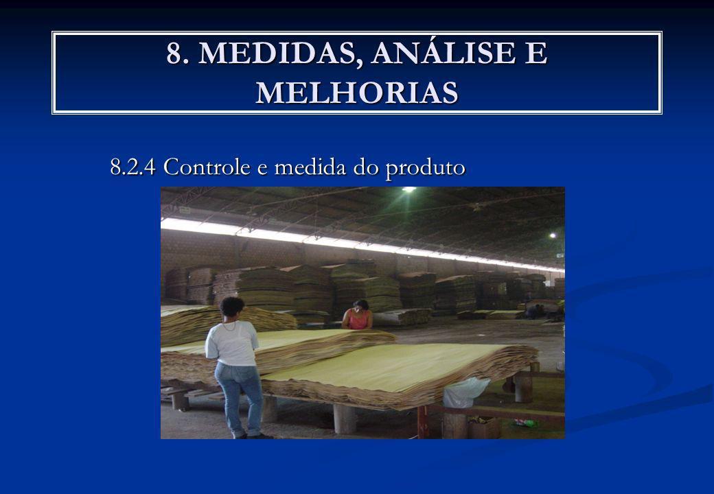 8. MEDIDAS, ANÁLISE E MELHORIAS 8.2.4 Controle e medida do produto