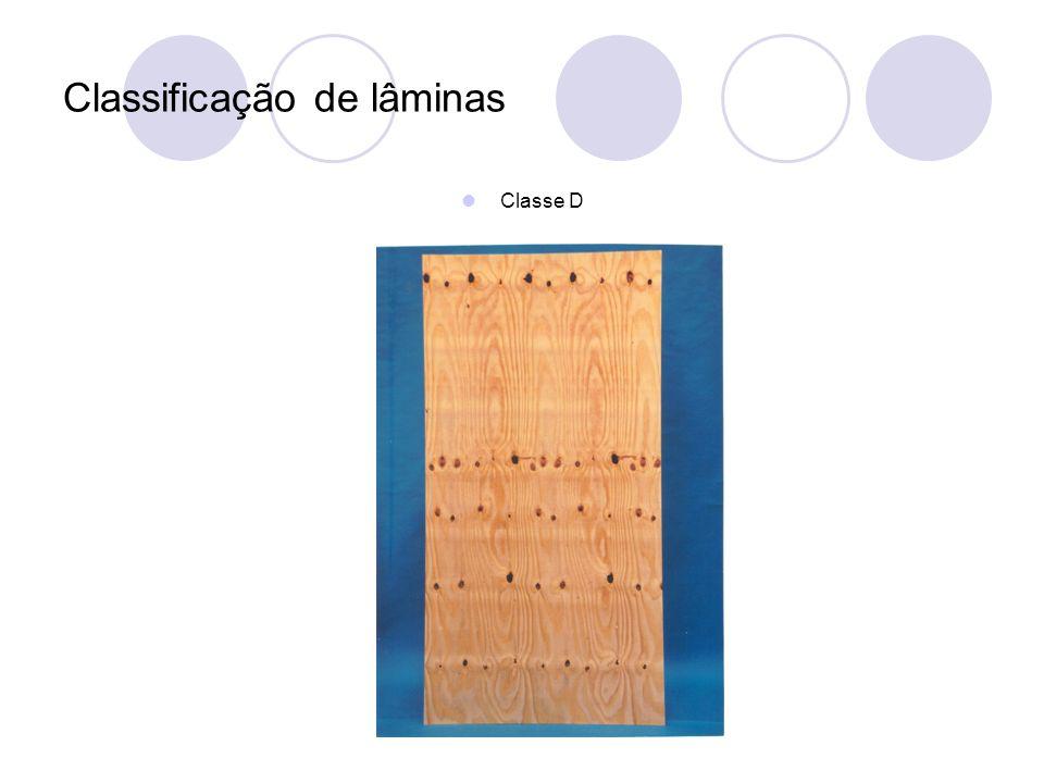 Classificação de lâminas Classe D