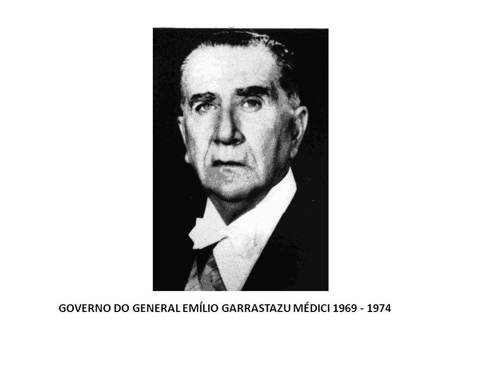 GOVERNO DO GENERAL EMÍLIO GARRASTAZU MÉDICI 1969 - 1974
