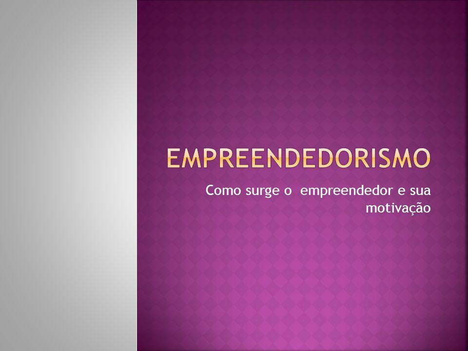 Como surge o empreendedor e sua motivação
