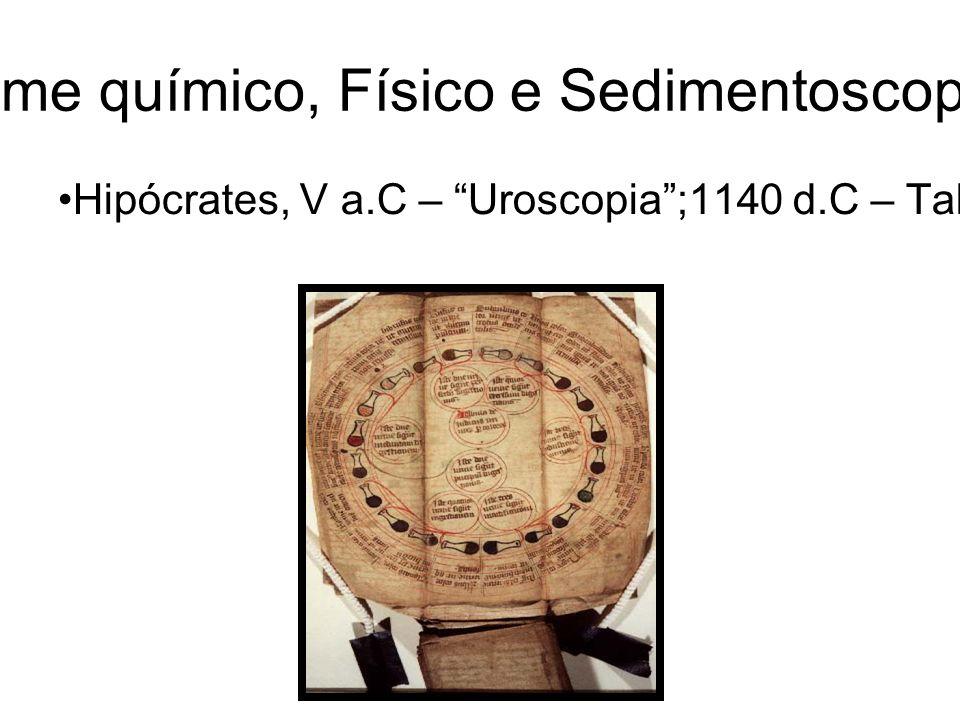 URINÁLISE: Exame químico, Físico e Sedimentoscopia-Revisão Geral Hipócrates, V a.C – Uroscopia;1140 d.C – Tabelas de cores