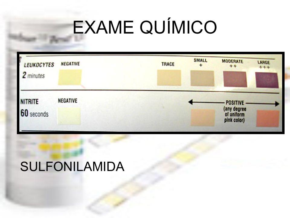 EXAME QUÍMICO SULFONILAMIDA