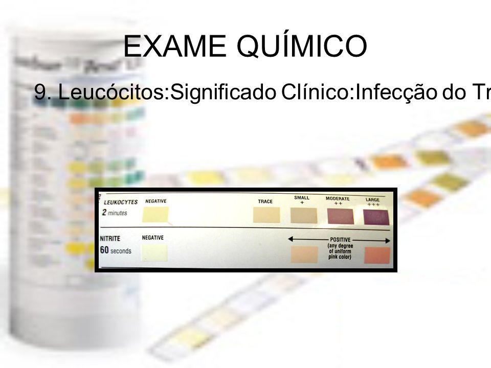 EXAME QUÍMICO 9. Leucócitos:Significado Clínico:Infecção do Trato Urinário