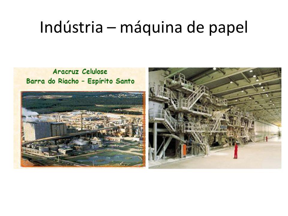 Indústria – máquina de papel