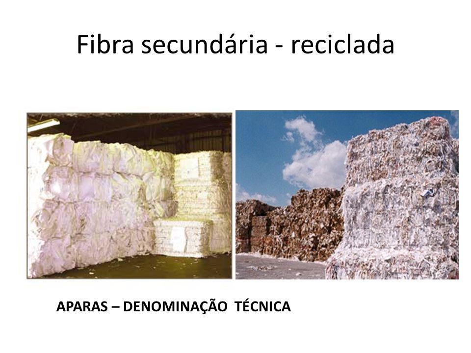 Fibra secundária - reciclada APARAS – DENOMINAÇÃO TÉCNICA