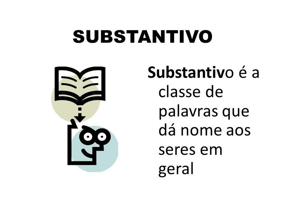 SUBSTANTIVO Substantivo é a classe de palavras que dá nome aos seres em geral