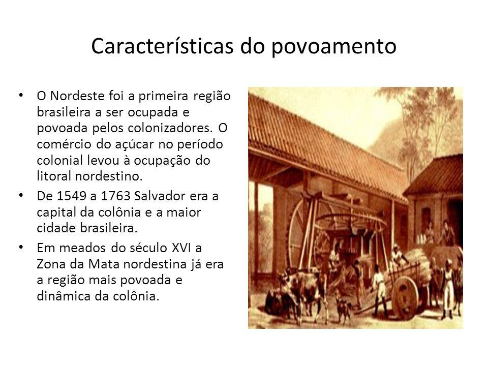 Cana- de- açúcar Em meados do século XVI a Zona da Mata nordestina já era a região mais povoada e dinâmica da colônia.