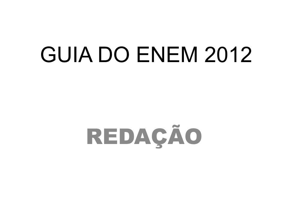 GUIA DO ENEM 2012 REDAÇÃO