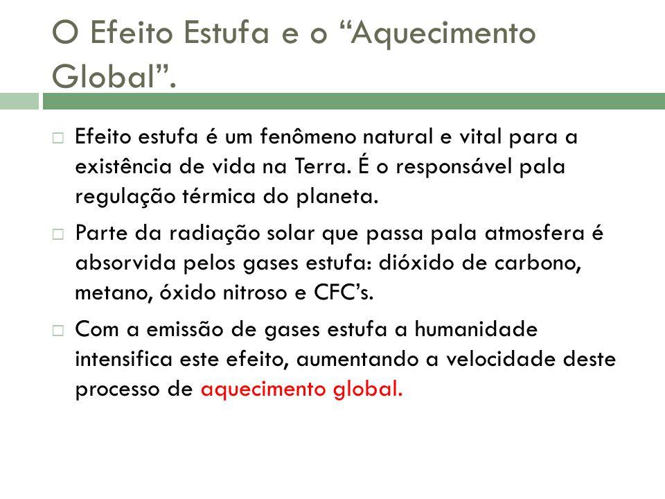 O Efeito Estufa e o Aquecimento Global.