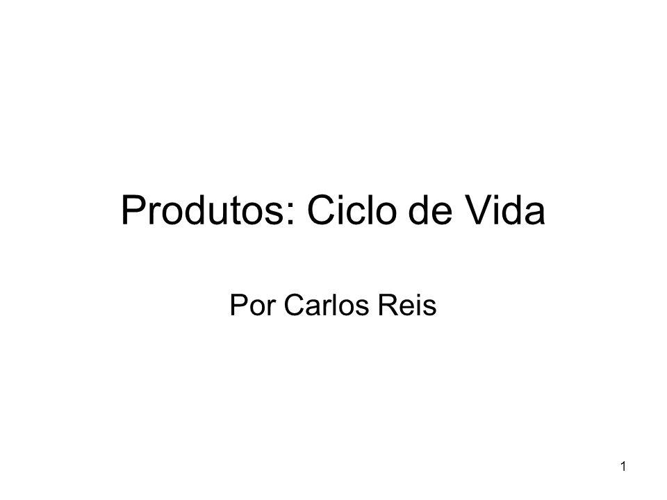 1 Produtos: Ciclo de Vida Por Carlos Reis