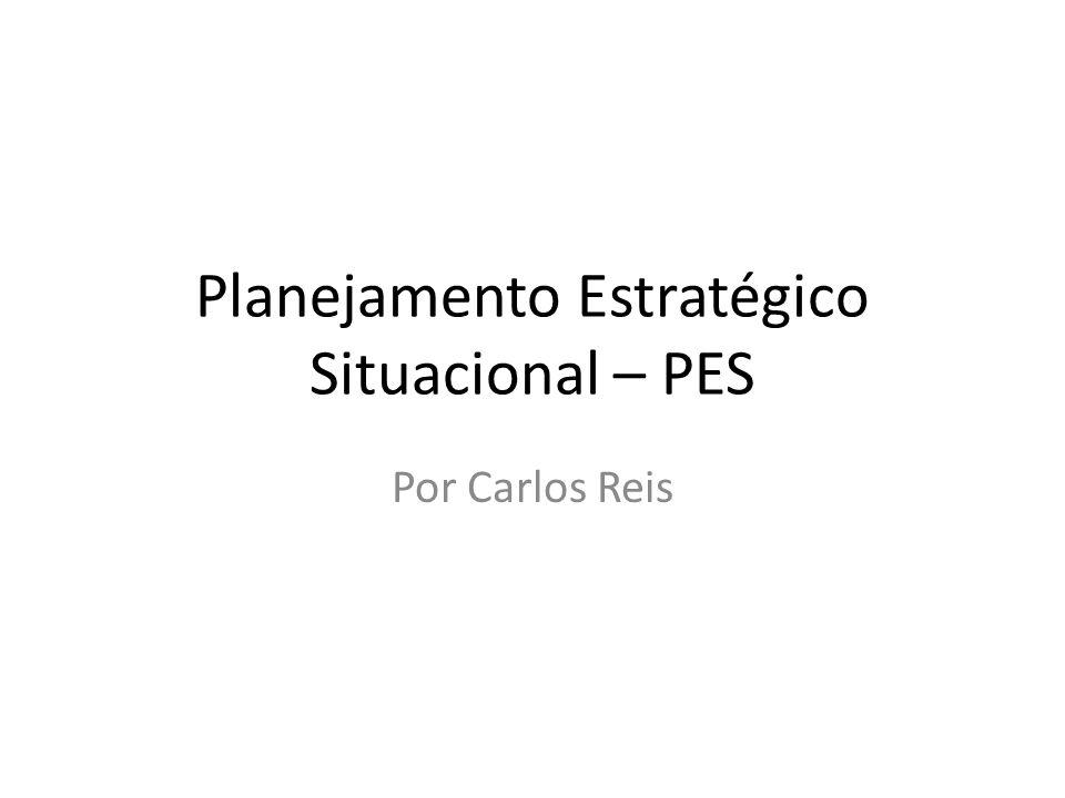 Planejamento Estratégico Situacional – PES Por Carlos Reis