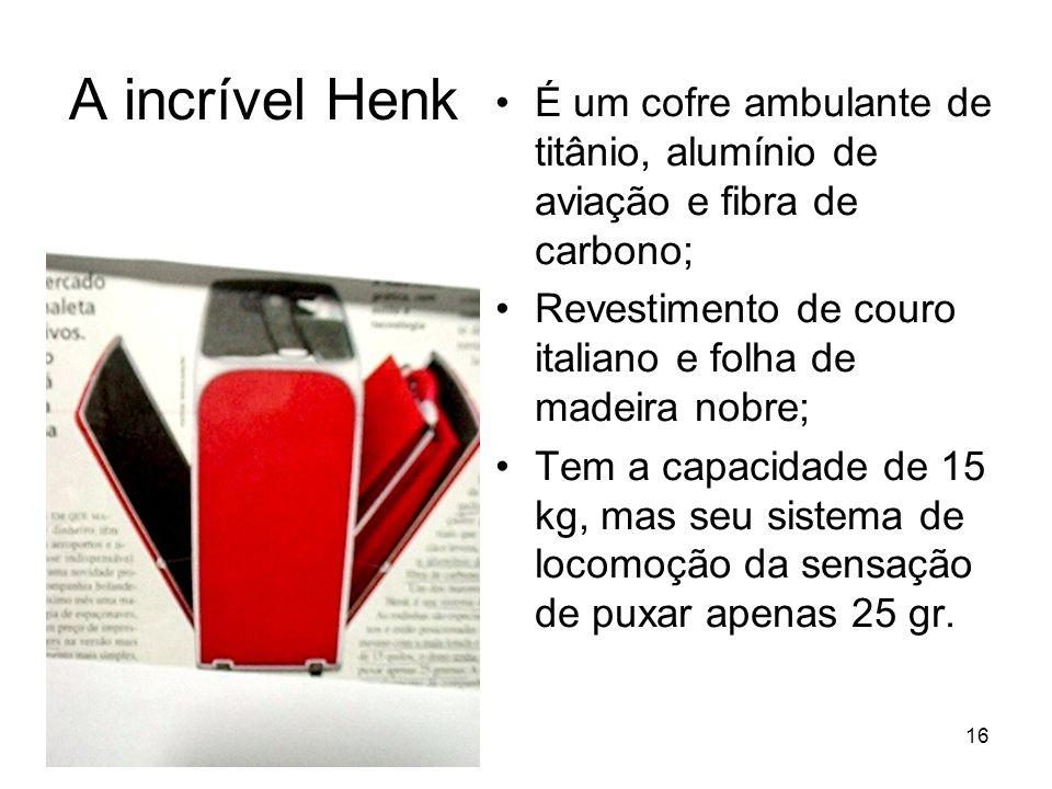 16 A incrível Henk É um cofre ambulante de titânio, alumínio de aviação e fibra de carbono; Revestimento de couro italiano e folha de madeira nobre; T