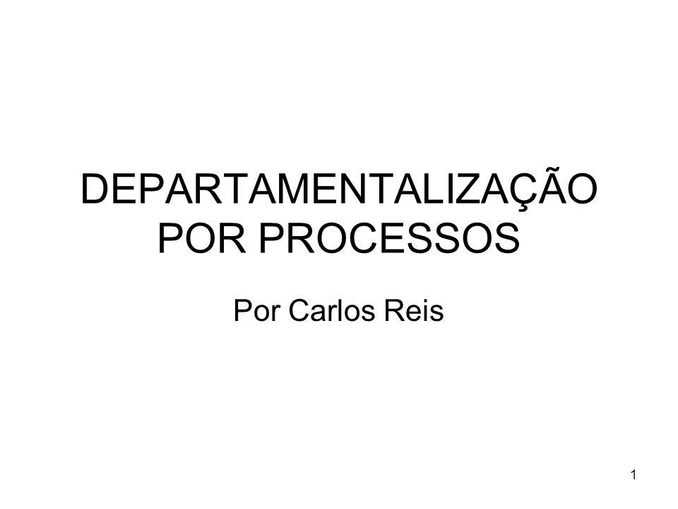1 DEPARTAMENTALIZAÇÃO POR PROCESSOS Por Carlos Reis