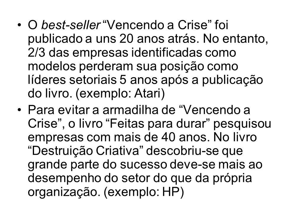 O best-seller Vencendo a Crise foi publicado a uns 20 anos atrás.