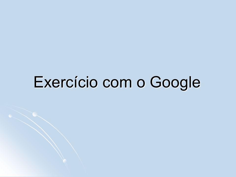 Exercício com o Google