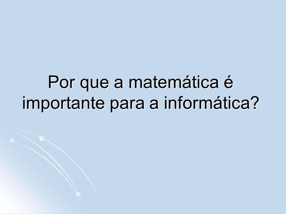 Por que a matemática é importante para a informática?