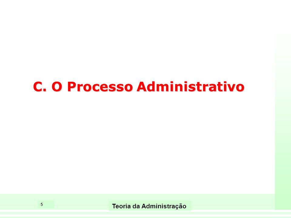 5 Teoria da Administração C. O Processo Administrativo