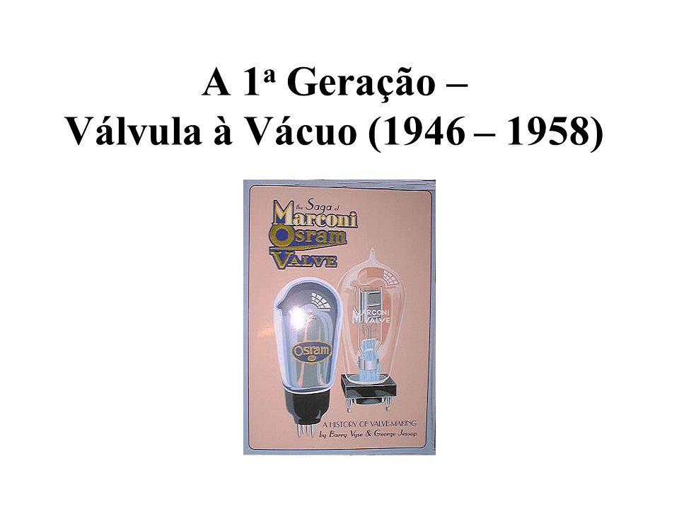 A 1 a Geração – Válvula à Vácuo (1946 – 1958)