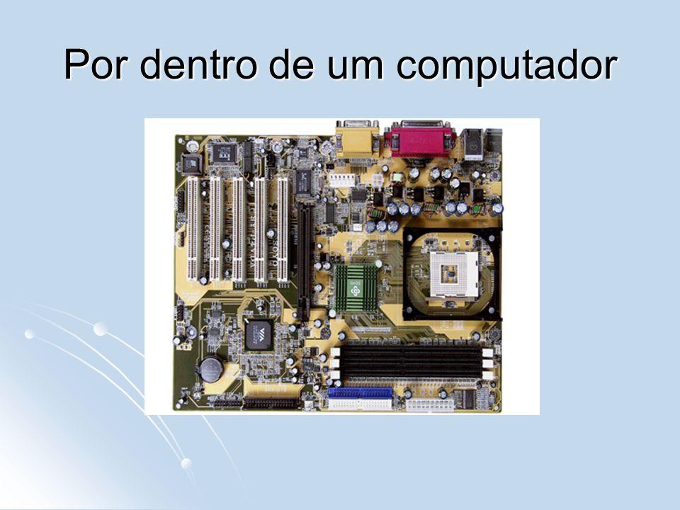 Memória Principal Unidade Central de Processamento Barramento Memória de Massa Entrada Saída RAM HD, CD Processador