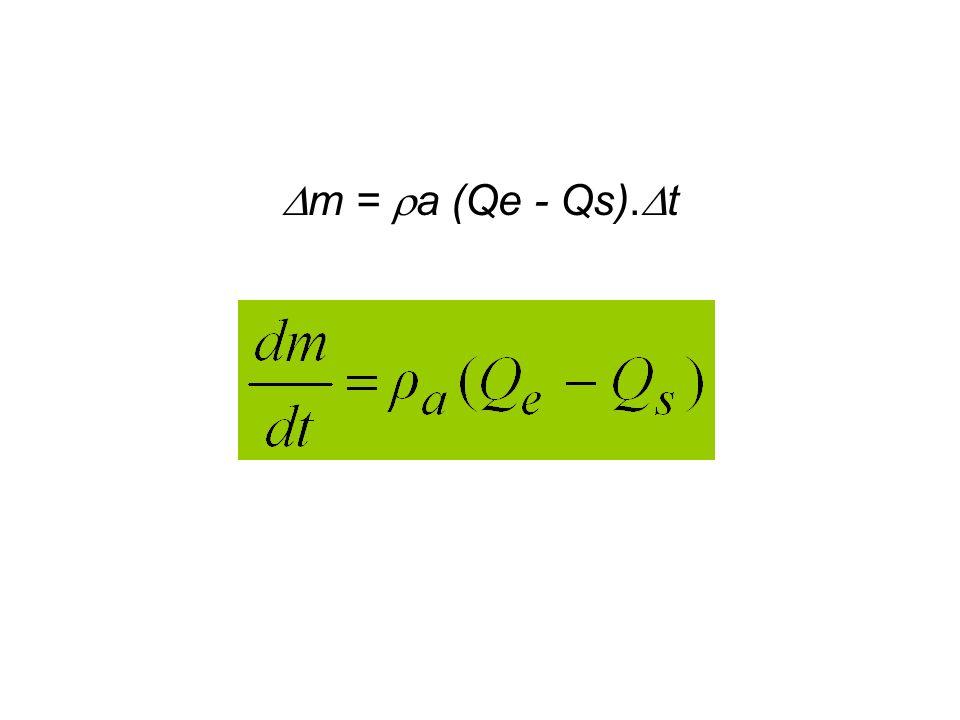 m = a (Qe - Qs). t