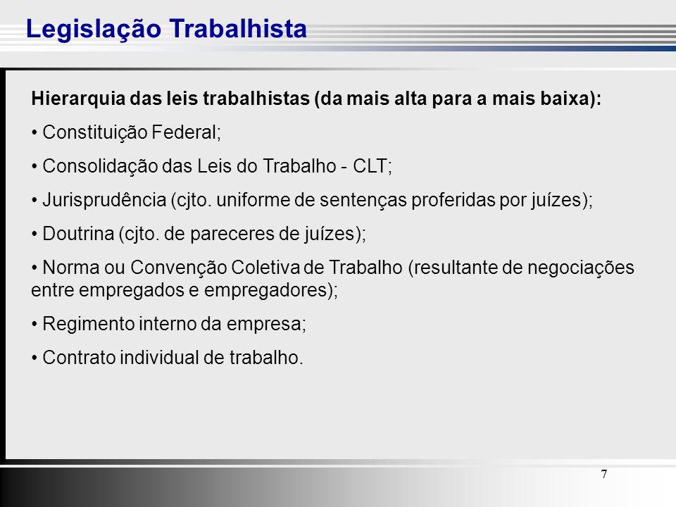 8 A Relação de Emprego 88 A CLT foi criada com a intenção de proteger o emprego, seguem as definições: Empregador (art.