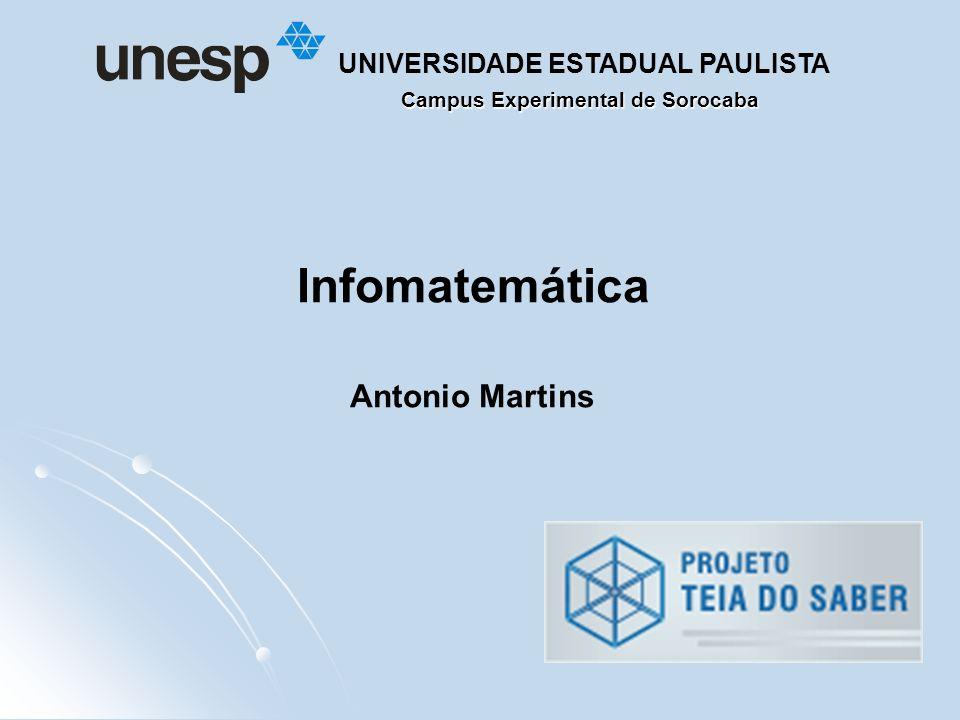 Campus Experimental de Sorocaba UNIVERSIDADE ESTADUAL PAULISTA Infomatemática Antonio Martins