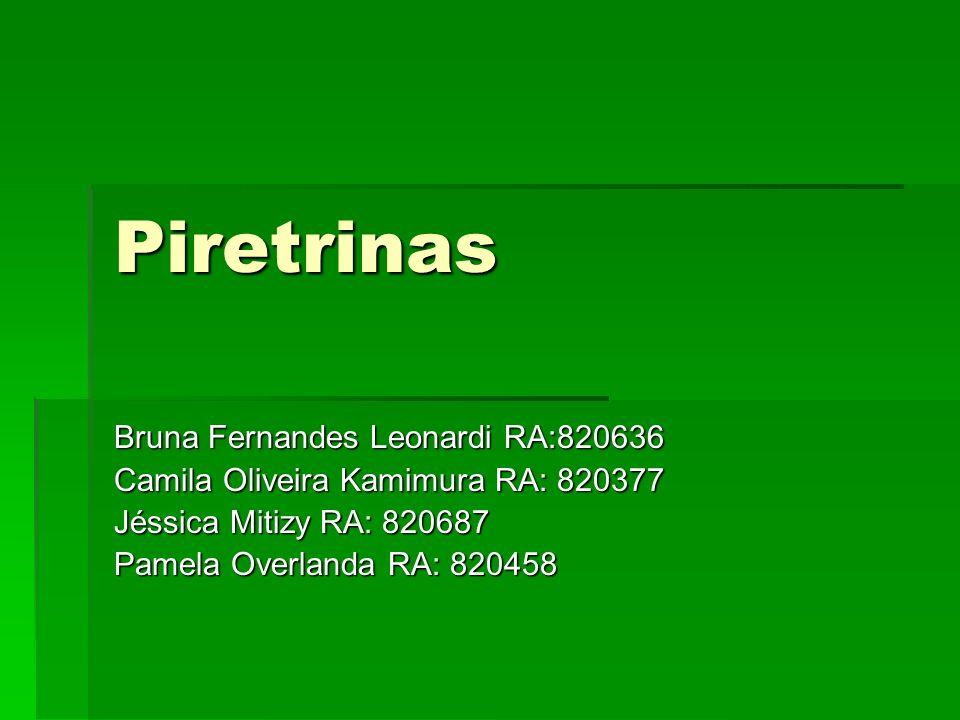 Piretrinas Bruna Fernandes Leonardi RA:820636 Camila Oliveira Kamimura RA: 820377 Jéssica Mitizy RA: 820687 Pamela Overlanda RA: 820458