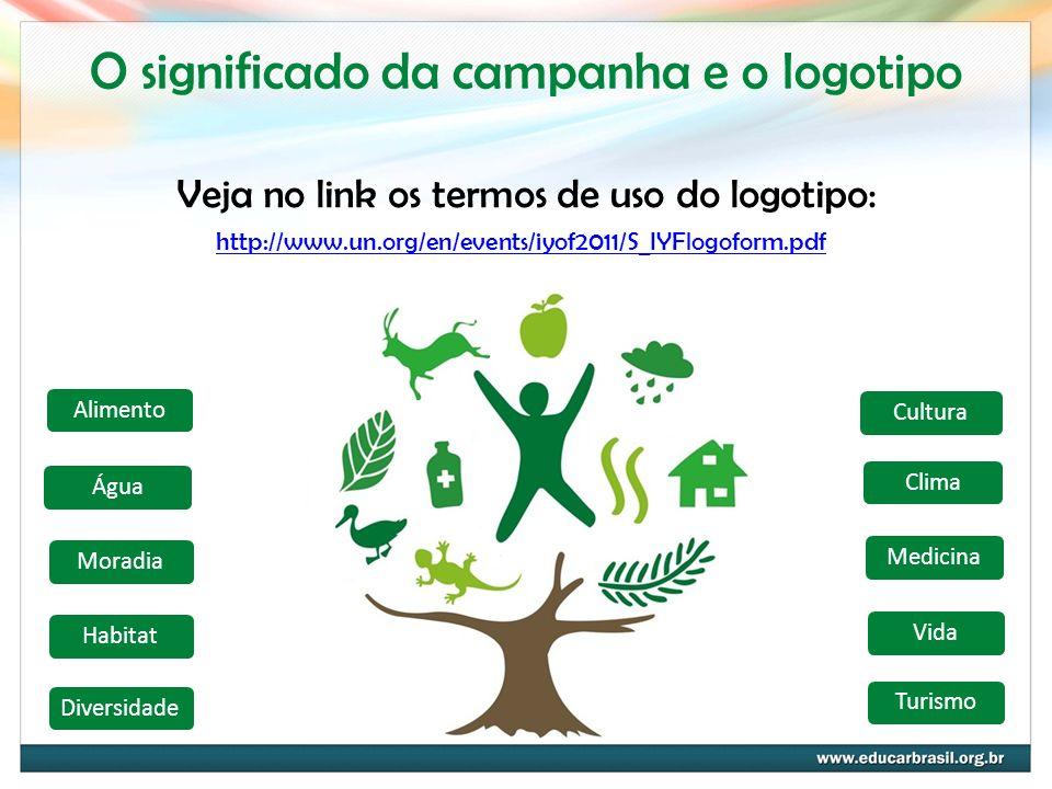 O significado da campanha e o logotipo http://www.un.org/en/events/iyof2011/S_IYFlogoform.pdf Veja no link os termos de uso do logotipo: AlimentoÁguaM