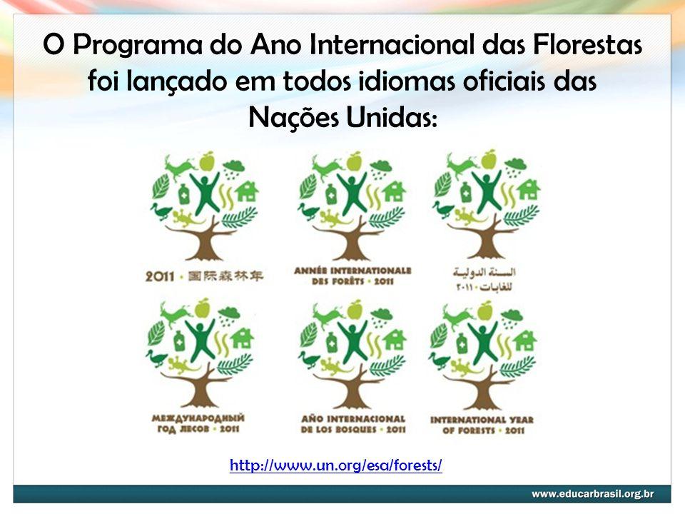 O Programa do Ano Internacional das Florestas foi lançado em todos idiomas oficiais das Nações Unidas: http://www.un.org/esa/forests/