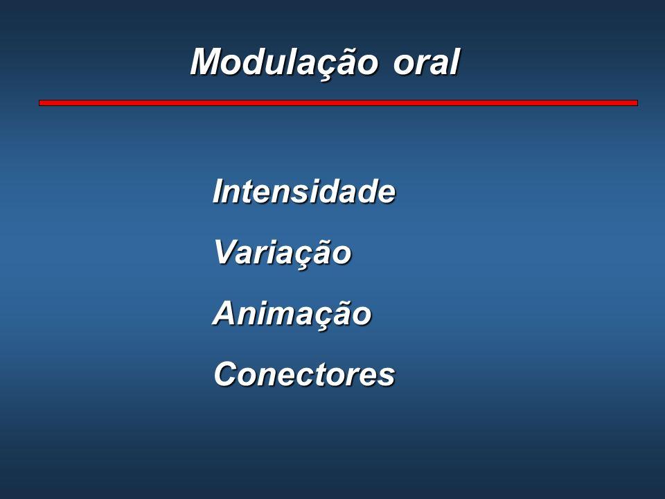 Modulação oral IntensidadeVariaçãoAnimaçãoConectores