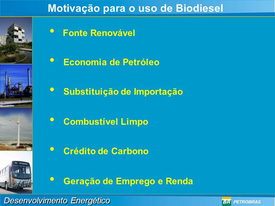 Desenvolvimento Energético PETROBRAS Produção e Comércio Externo em 2004 Auto-suficiência Dependência Produção X Imp/Exp