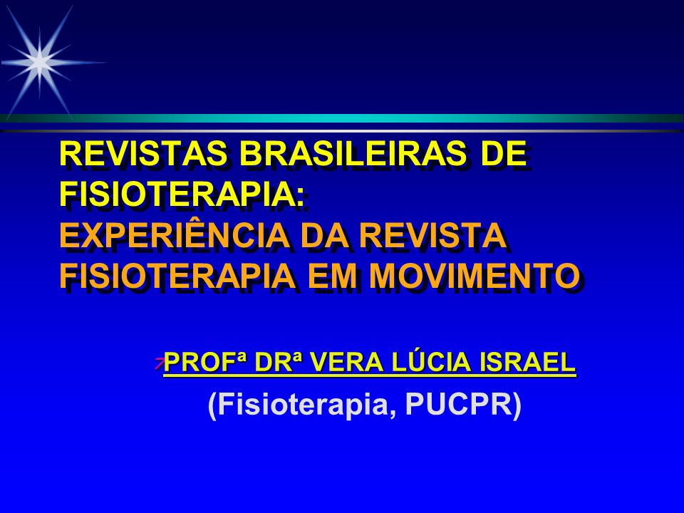 OBJETIVO DEMONSTRAR OS 17 ANOS DE CONTRIBUIÇÃO DA REVISTA FISIOTERAPIA EM MOVIMENTO (PHYSICAL THERAPY IN MOVEMENT) DA PUCPR PARA O DESENVOLVIMENTO CIENTÍFICO DA FISIOTERAPIA NO BRASIL