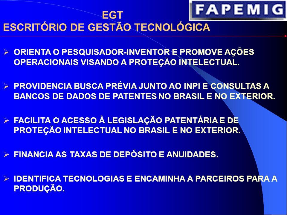 APOIO AO SETOR EMPRESARIAL APOIO A PROJETOS CONJUNTOS UNIVERSIDADE-EMPRESA MANUTENÇÃO DE UM ESCRITÓRIO DE GESTÃO TECNOLÓGICA INSERÇÃO DE DOUTORES NAS EMPRESAS APOIO À GESTÃO DE INCUBADORAS DE EMPRESAS APOIO À INSTALAÇÃO DE PARQUES TECNOLÓGICOS FINANCIAMENTO DE EMPRESAS BASE TECNOLÓGICA A FAPEMIG VEM BUSCANDO FORMAS DE FOMENTAR A INOVAÇÃO NO SETOR EMPRESARIAL: PAPPE – PROGRAMA DE APOIO À PESQUISA EM EMPRESAS EM 2004, 2005 e 2006