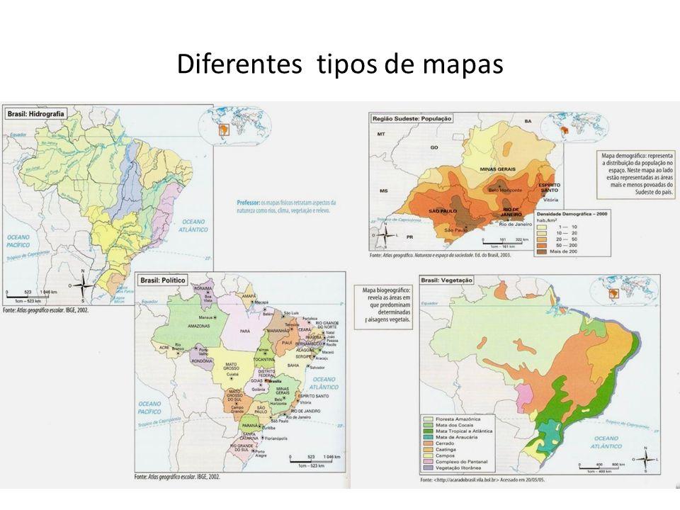 Diferentes tipos de mapas